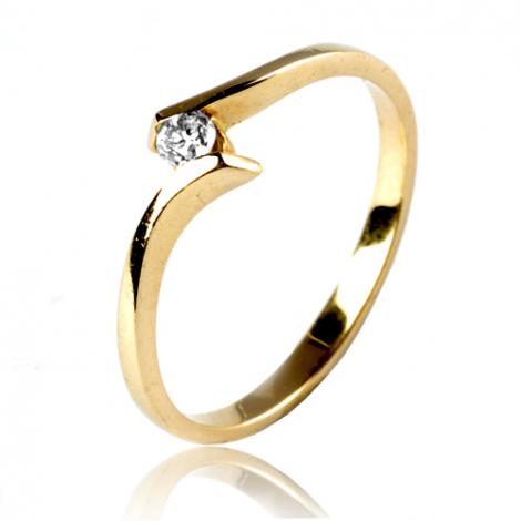 Bague or jaune diamant 0.08 ct Alice - 11830 BT 0.08