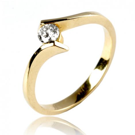 Bague or jaune diamant 0.18 ct Emma - 11830 BT 0.18