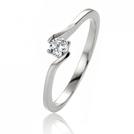 Bague or solitaire 0.10 ct Isis - 41-05296
