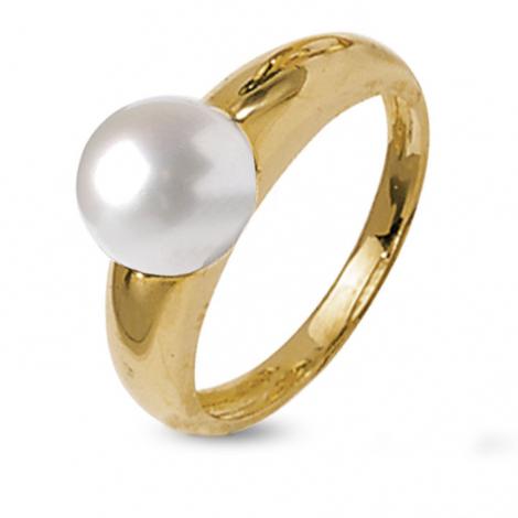 Bague perle blanche 8.5 mm Fang