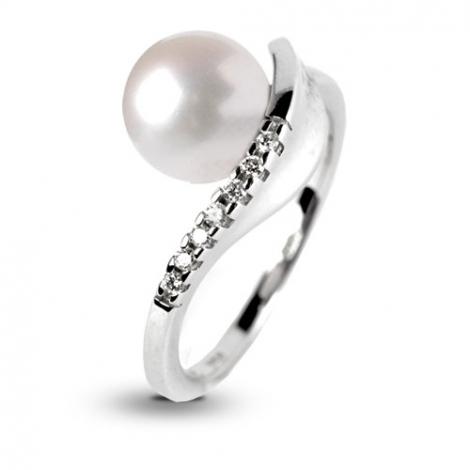 Bague perle blanche 8.5 mm Kaya