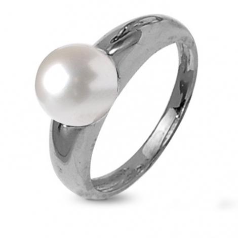 Bague perle blanche 8.5 mm Mitsuko