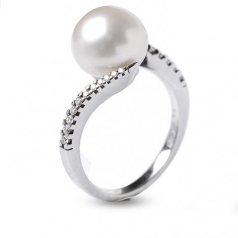 Bague perle blanche 9.5-10 mm Ayumi