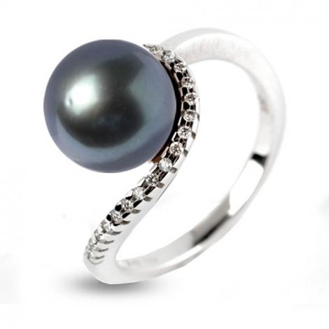Bague perle de Tahiti 10.5 mm Miriama-520841TA
