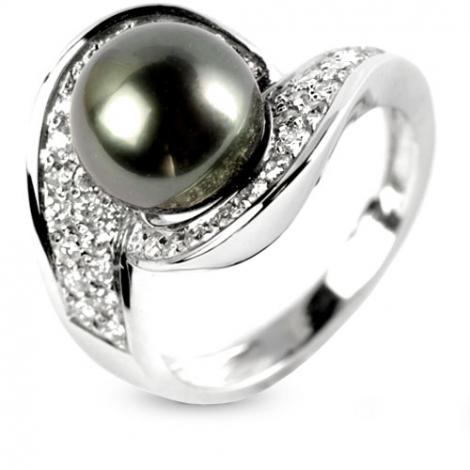 Bague perle de Tahiti 9 mm Eeva-BA11033
