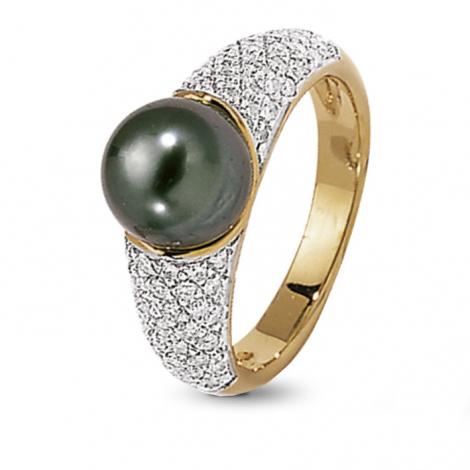 Bague perle de Tahiti 9 mm Heiani-BA9714