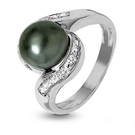 bague perle de tahiti diamant teorina en or blanc ba11023. Black Bedroom Furniture Sets. Home Design Ideas
