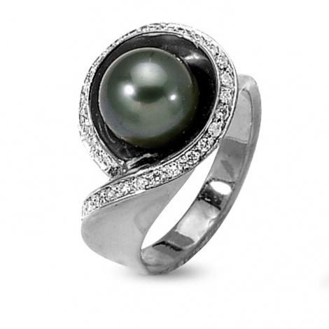 bague perle de tahiti diamant vaihinina en or blanc ba9702bl. Black Bedroom Furniture Sets. Home Design Ideas
