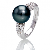 bague perle de tahiti diamant vanina en or blanc 45000ap. Black Bedroom Furniture Sets. Home Design Ideas