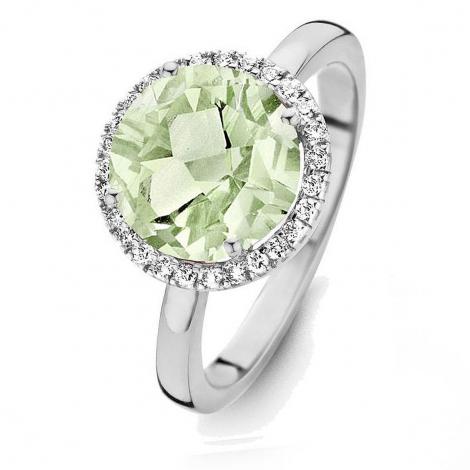 Bague Prasiolite et diamants One More - Etna 0.16 ct  - Etna 053652YA