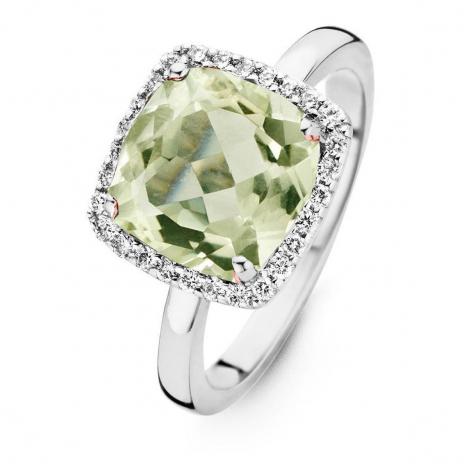 Bague Prasiolite et Diamants One More - Etna 0.22 ct  - Etna 053926YA