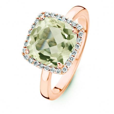 Bague Prasiolite et Diamants One More - Etna 0.22 ct  - Etna 053983YA