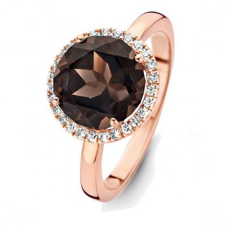 Bague Quartz Fumé et diamants One More - Etna 0.16 ct  - Etna 053633VA