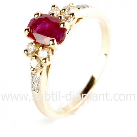 Bague Rubis diamant  - Alanna - 12435 RU