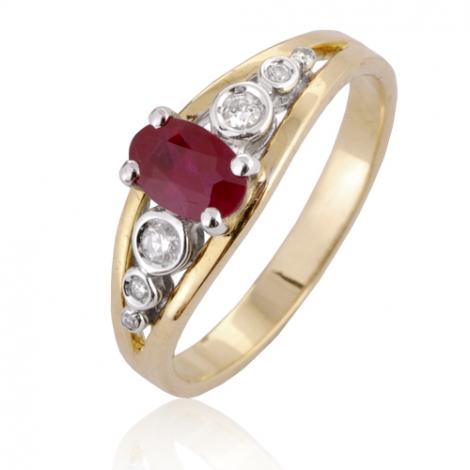 Bague rubis diamant  - Amanda - 12579 RU