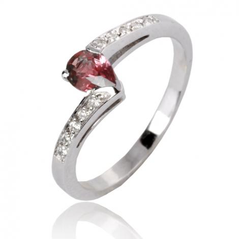 Bague rubis diamant  - Camille - 12577RU