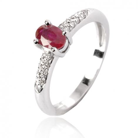 Bague rubis diamant  - Cassiopée - 11626 RU
