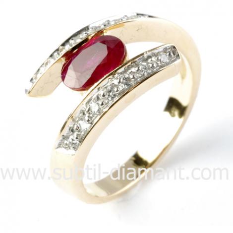 Bague rubis diamant  - Chloé - 11866 RU