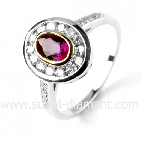 Bague rubis diamant  - Irène - 12078 RU