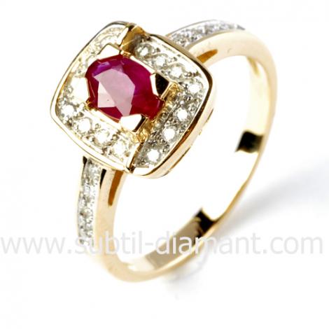 Bague rubis diamant  - Irina - 12512 RU