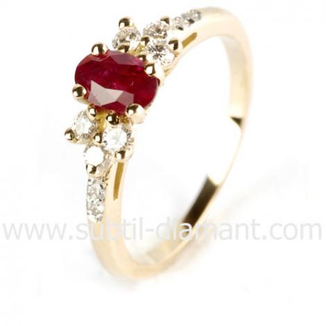 Bague Rubis diamant  - Kélia - 12433 RU