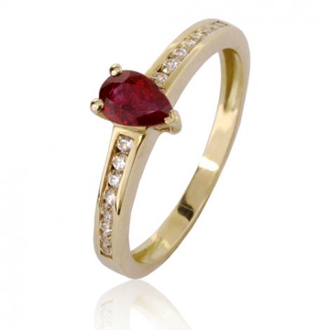 Bague rubis diamant  - Kimmy - 12775 RU