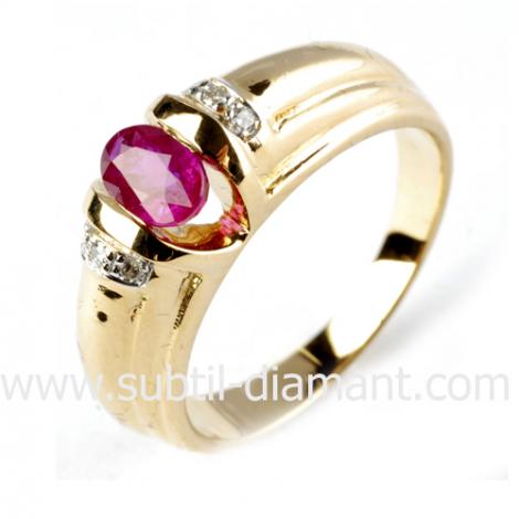 bague rubis  diamant  - Lise - 12292 RU