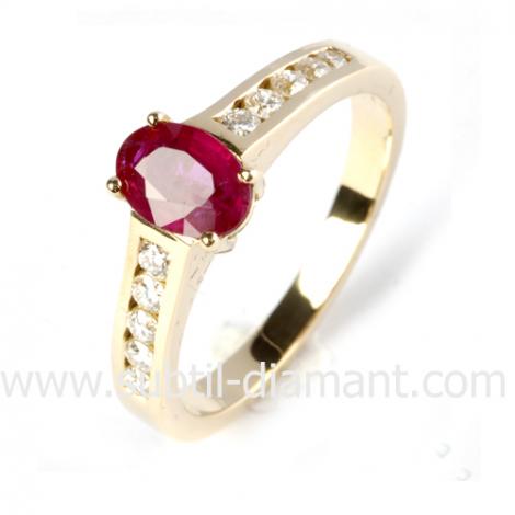 Bague rubis diamant  - Marina - 12448 RU