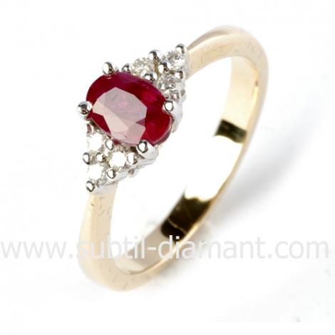 Bague rubis diamant  - Myrona - 11889 RU