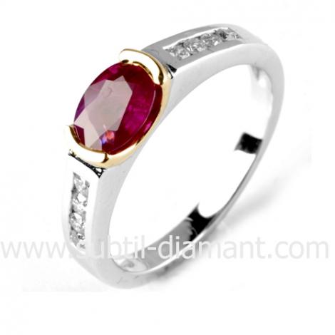 Bague rubis diamant  - Naïs - 12539 RU