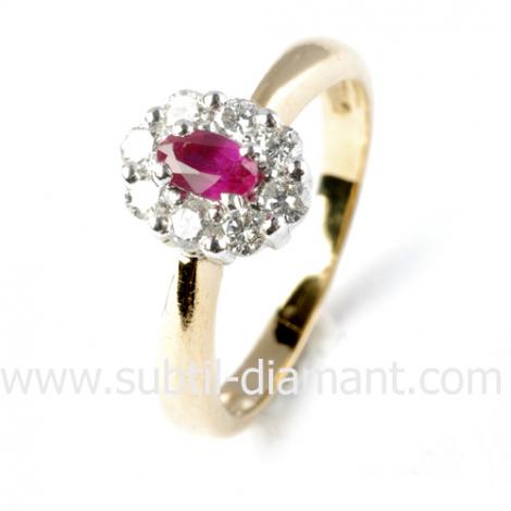 Bague rubis diamant  - Narah - 11518 RU