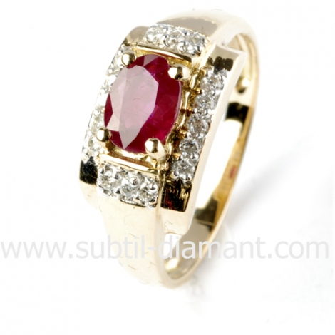 Bague rubis diamant  - Noémie - 12440 RU