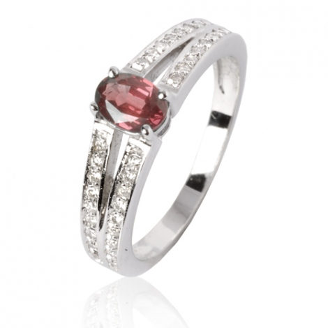 Bague rubis diamant Or 18 ct - 750/1000 - Armonie - 12535 RU