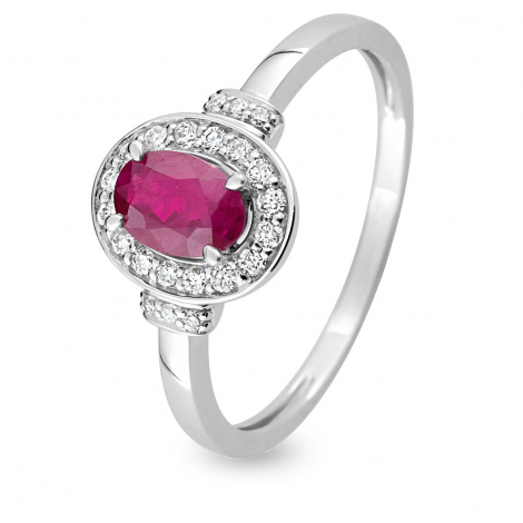 Bague rubis diamant Or 18 ct - 750/1000 - Auxane - S18.02102