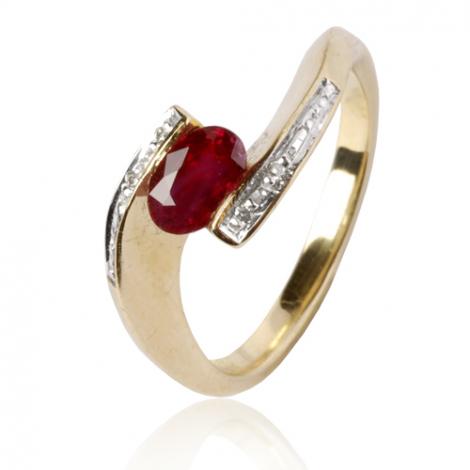 Bague rubis diamant Or 18 ct - 750/1000 - Cassandra - 11693 RU