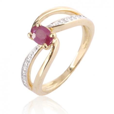 Bague rubis diamant Or 18 ct - 750/1000 - Fannie - 12787 RU