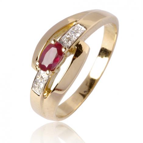 Bague rubis diamant Or 18 ct - 750/1000 - Fanny - 12799 RU