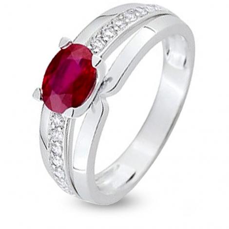 Bague rubis diamant Or 18 ct - 750/1000 - Moerava - 7V004GRB2