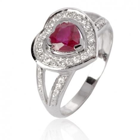 Bague rubis diamant Or 18 ct - 750/1000 - Nolwenn - 12715 RU
