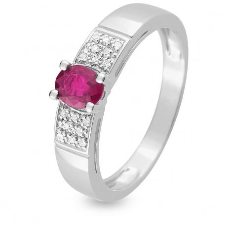 Bague Rubis diamant Or 18 ct - 750/1000 - Tahia - MZB14GRB4