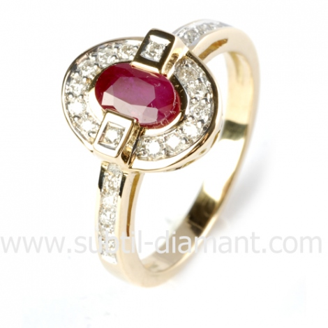 Bague rubis diamant  - Susanna - 12511 RU