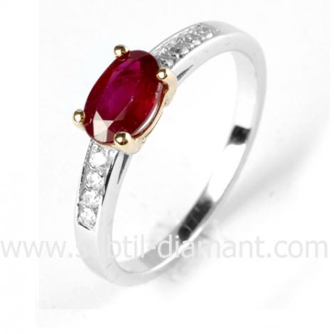 Bague rubis diamant  - Théa - 12081 RU