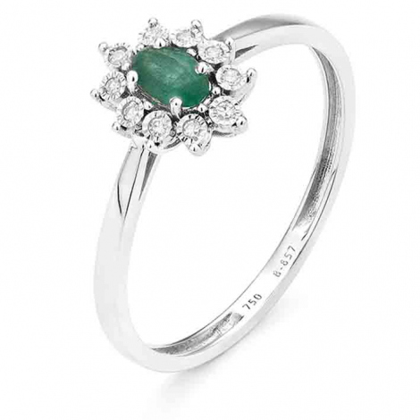 Bague Rubis en Or Rose diamant Tania - RB809FMNWA814