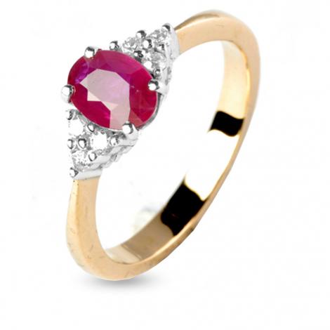Bague rubis et diamants diamant  - Alexane - 11888RU