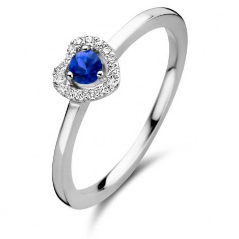 Bague saphir bleu et diamants - One More 0.08 ct  - Salina 051743SA
