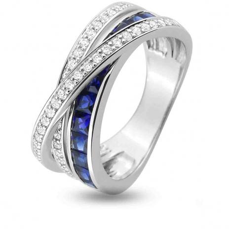 Bague Saphir en Or Blanc diamant Élisabelle -1.6020.S1