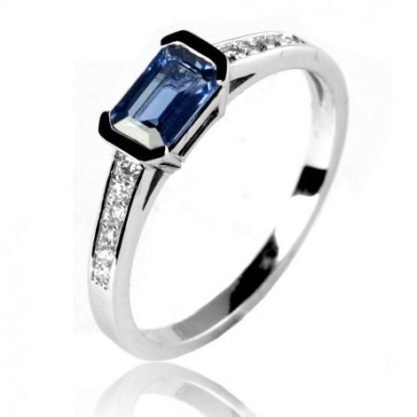 Bague saphir en Or Blanc diamant Adonia -12592 SA