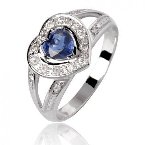 Bague saphir en Or Blanc diamant Alexia -12714 SA