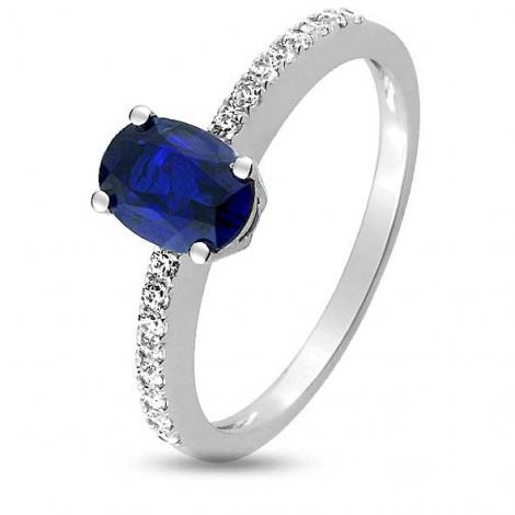 Bague Saphir en Or Blanc diamant Anchali -1.6022.S1