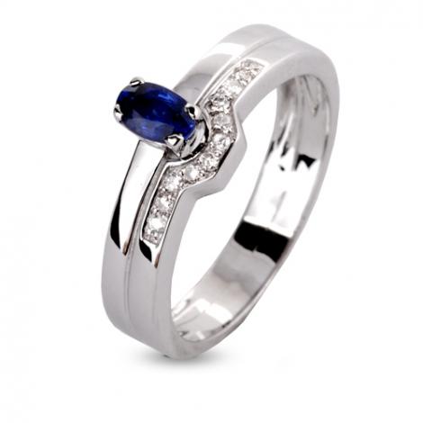 Bague saphir en Or Blanc diamant Aria -12851-SA